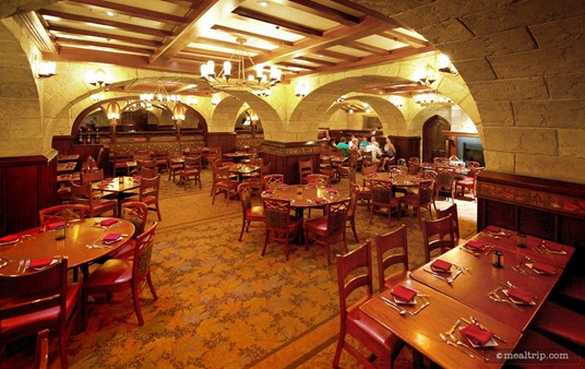 Le Cellier dining area, looking northwest.