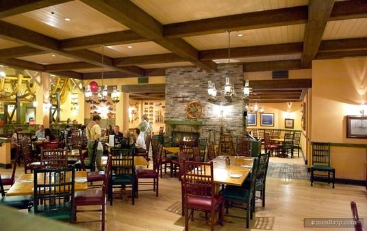 """Second """"loft"""" dining area."""