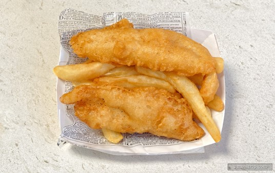 Fish and Chips from the Yorkshire County Fish Shop in the UK Pavilion at Epcot.