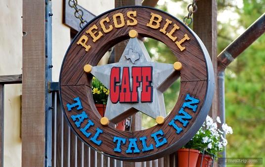 Texas Star Sign for Pecos Bill's Tall Take Inn.