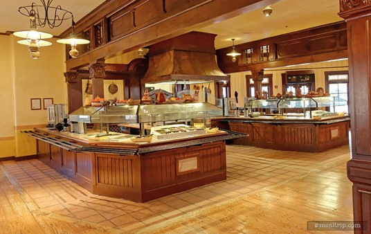 """The """"toppings bar"""" at Pecos Bill's Cafe."""