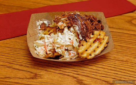 Barbecue Pork Waffle Fries from the Golden Oak Outpost.