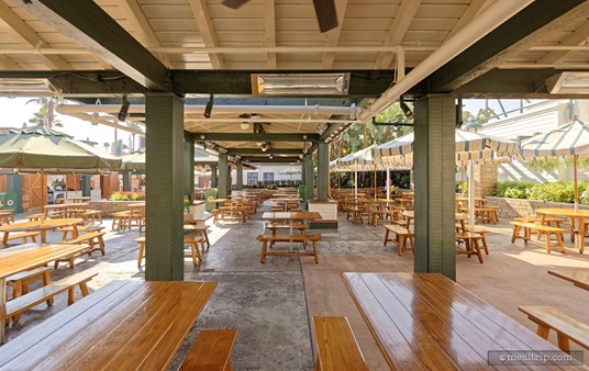 """The seating for Catalina Eddie's is """"food court"""" style, so there's no dedicated section for this location. You can pretty much sit where there's a free spot."""