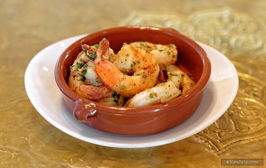 The Spicy Garlic Shrimp appetizer is sauteed with dried chilis and fried garlic. (Fall, 2018)