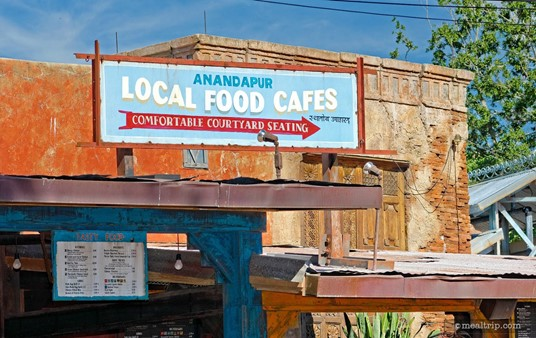 Sign above the main counter of the Anandapur Local Food Cafes area.