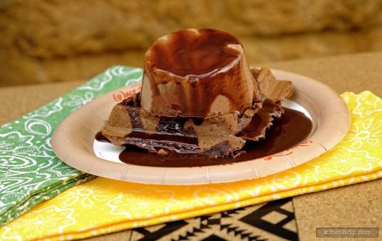 A Chocolate Waffle                with Chocolate Mousse from Tamu Tamu in Animal Kingdom.