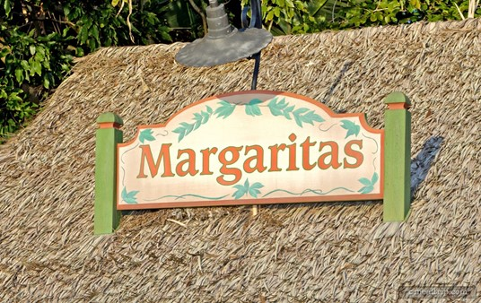 Sign above the thatched roof of the Mexican pavilion's Margarita Stand.