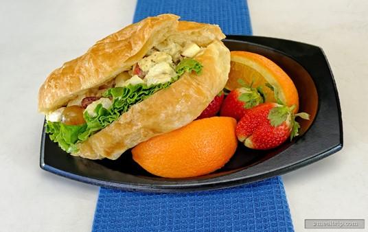 Chicken Salad Sandwich with Fruit from Mango Joe's at SeaWorld Orlando.