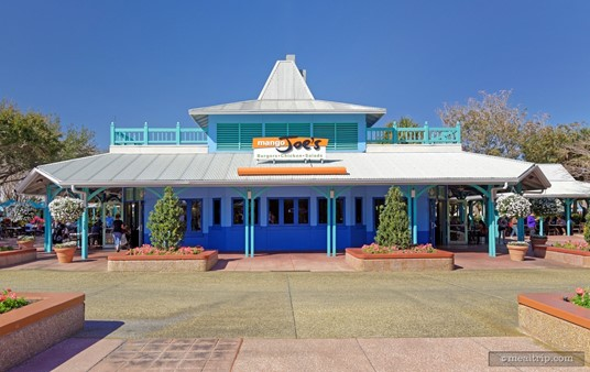 Walking up to Mango Joe's (the seating is on both sides and to the back side of the main building).