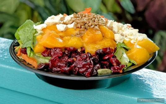 "Mango Joe's ""signature"" salad, the Mango Fruit Salad."