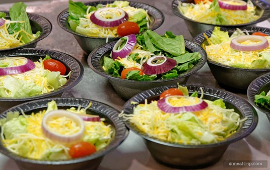 """This is the """"Side Salad"""" at The Seafire Grill. You can usually find similar side salads at other restaurants at Sea World."""