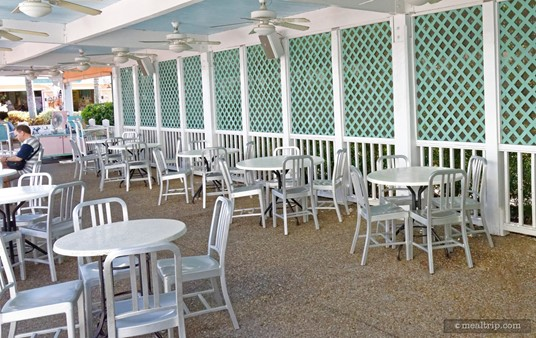 Captain Pete's main covered dining area.