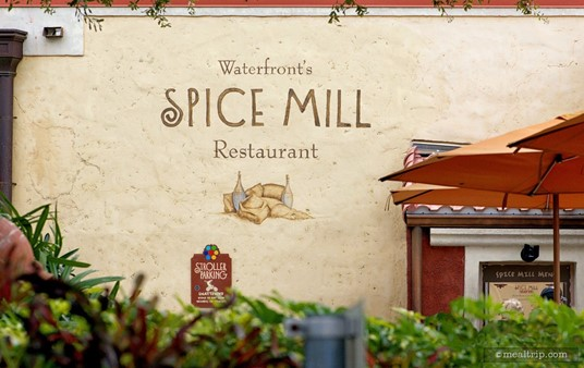 Around the back of the Spice Mill, there is another, less crowded menu board to look at, and stroller parking.