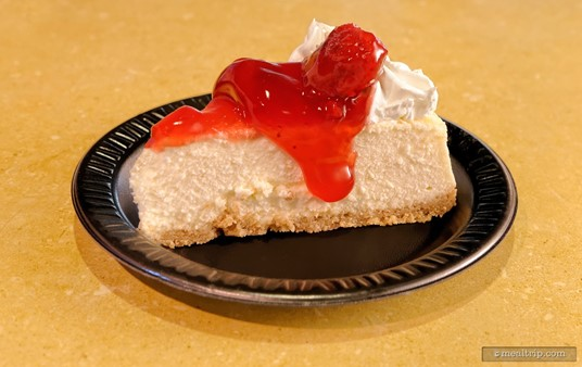 The Berry-topped Cheesecake can be found at many SeaWorld, Orlando dining locations.
