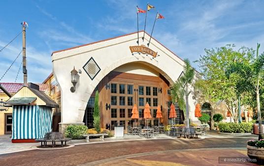 The main entrance to Voyager's Smokehouse at SeaWorld Orlando.