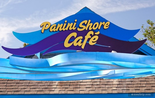The sign above Panini Shore Cafe.