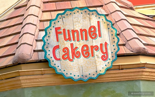 Sign above the Funnel Cakery at Voyagers. (Photo and caption from Spring 2017.)