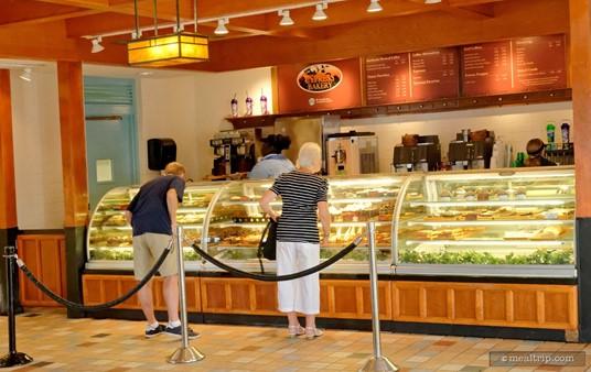 The interior of SeaWorld's Cypress Bakery.