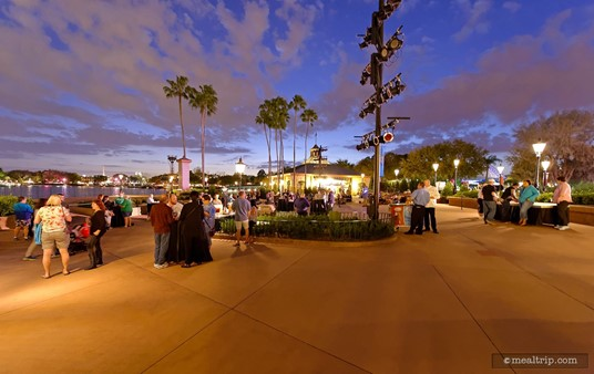 The main viewing area at the IllumiNations Sparkling Dessert Party.