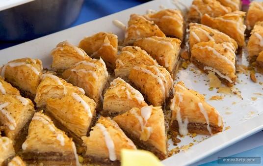 Traditional Baklava at Ecpot's IllumiNations Sparkling Dessert Party.