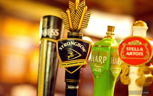 A Strongbow Hard Cider tap handle at the Rose & Crown Pub.