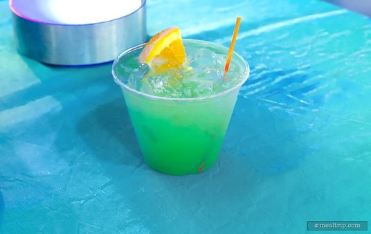 """""""Iced Summer"""" from the Frozen Dessert Party, featuring a blend of Rum, Curacao, Pineapple, and Sprite."""