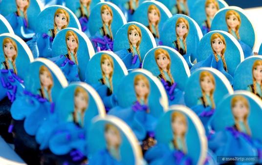 A whole tray of Anna mini cupcakes (chocolate cake base).