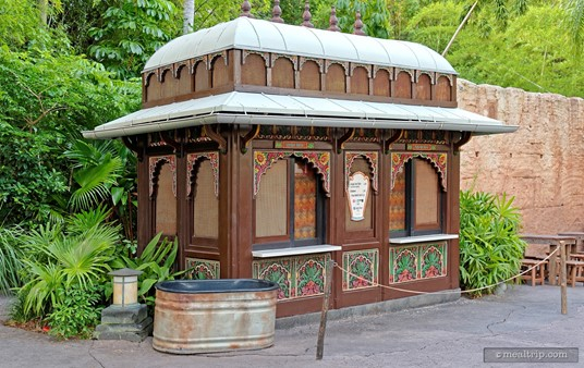 Another view of the tiny Bradley Falls kiosk.