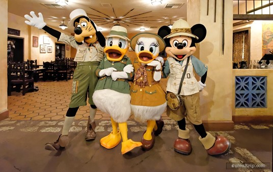 The characters you will likely meet at Tusker House. How can you not like the safari outfits? Very cool.