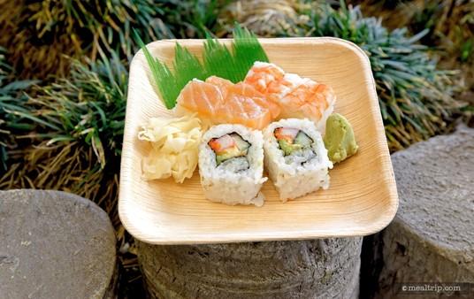 "The ""Combo Sushi""                                                                                     from Epcot's Kabuki Cafe."