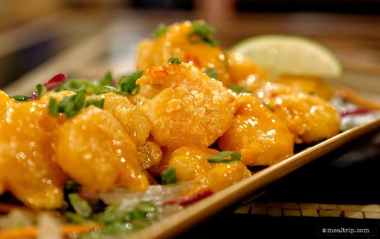 """Yak and Yeti's Firecracker Shrimp is a """"Small Plates"""" appetizer that's easily shareable between two people."""