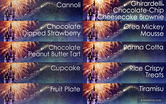 """There really is no """"menu board"""" or card per say, and the buffet selections may change seasonally a bit (as they did before), so this is a collection of some of the item tags that I found near the desserts."""