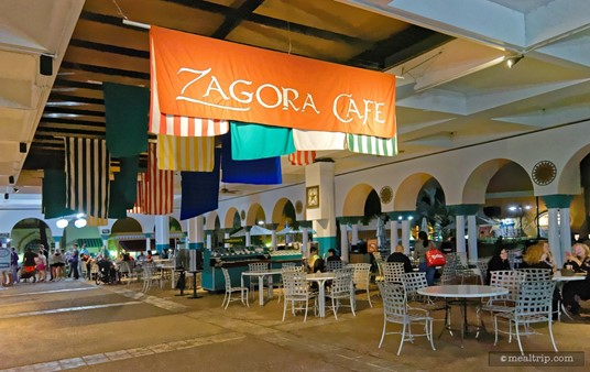The Zagora Cafe area is open late, right up until park-close usually, so it's a good bet if you want one last snack before leaving Busch Gardens.
