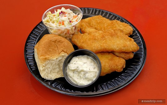 The Catch of the Jungle fried fish platter from the Begal Bistro comes with coleslaw and a dinner roll.