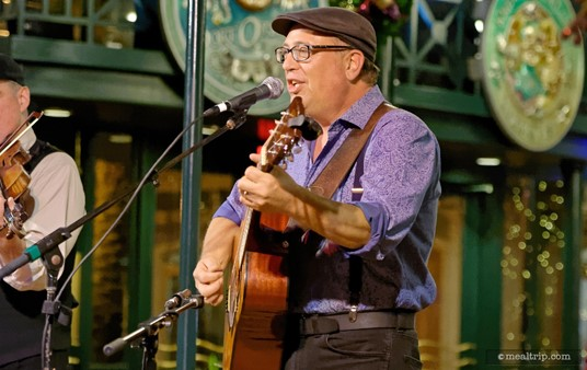 """Billy Varnes (pictured here) and Jason Thomas have previously performed with Off Kilter, a popular band at Epcot. There's no """"set"""" schedule of musicians at the Scat Cat Club though, so there's no telling who you might see performing."""