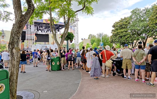While the Premium Package area is quite large, obviously everyone wants to get close to the ropes, so they can get the best view of the celebrity motorcade.