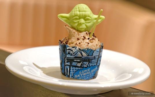 Yoda Chocolate Hazelnut Mini Cupcake.