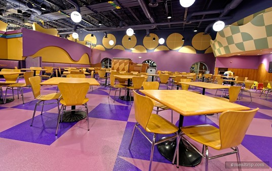 The purple room is one of the dining areas at Everything Pop.