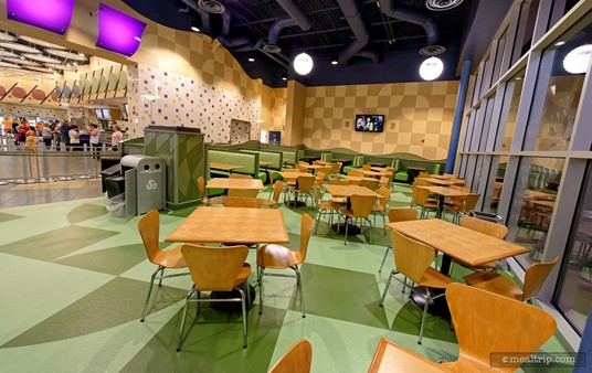 """The """"green room"""" at Everything Pop, which is the Pop Century Resort's only restaurant."""