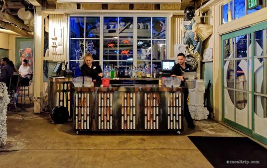 "The Cantina (bar) at Hollywood Studio's ""Rebel Hangar Experience"" during Star Wars Weekends."