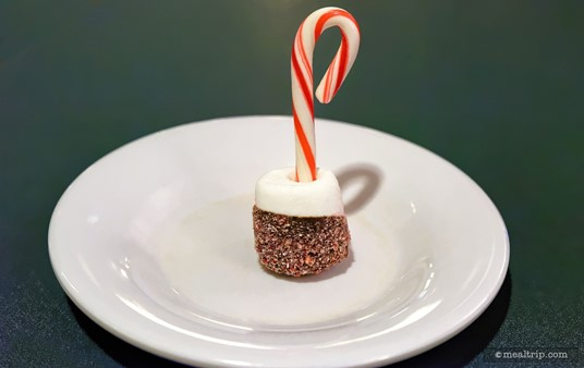 You can't know how difficult it was to get this one, single Candy Cane Marshmallow to stand up, all by itself, on that plate!