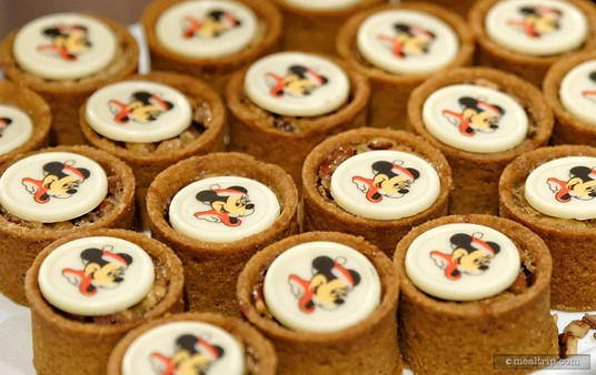 Mickey Pecan Tarts from the dessert station at Minnie's Holiday Dine at Hollywood and Vine.