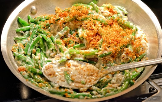 A holiday tradition for many, the Green Bean Casserole at Minnie's Holiday Dine is a welcome addition to the winter menu.