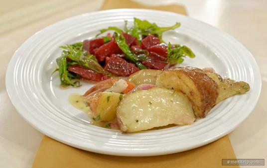 Front and center is the Roasted Potato Salad from the Crystal Palace.