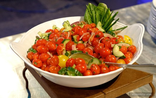 """Tomato and Cucumber Salad from the 1901-1924 """"Beginnings - Casual Dinner Station"""" table."""