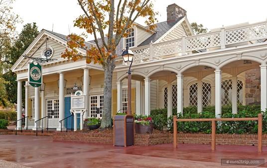 The Liberty Tree Tavern exterior, just after a rain storm.