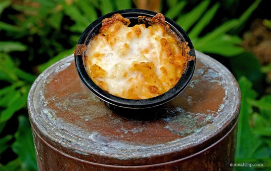 The Baked Lobster Macaroni & Cheese from Animal Kingdom's Beastly Kiosk.