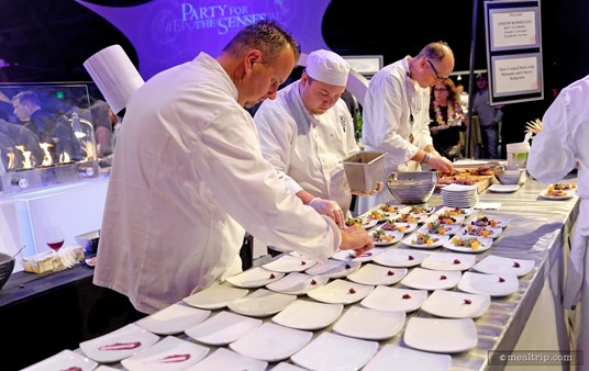 These culinary stations at the Party for the Senses are almost as fun to watch, as the food is to eat!