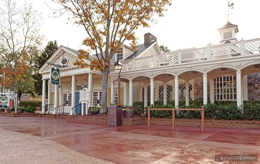 The hitchin' post in front of the Liberty Tree Tavern is usually used for corralling strollers, and not horses.