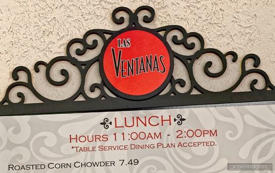 Even the lunch menu board outside Las Ventanas is a beautiful art piece!